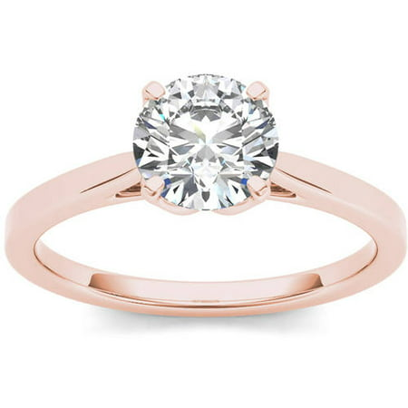 1 Carat T.W. Diamond Solitaire 14kt Rose Gold Engagement Ring