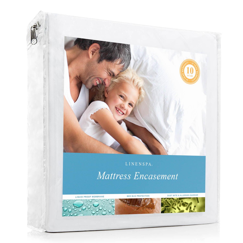 Linenspa Smooth Waterproof Encasement Mattress Protector