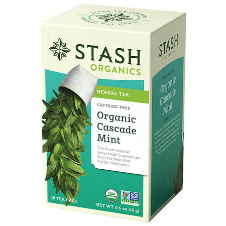 Stash Tea Organic Cascade Mint Herbal Tea, 18 Ct, 0.6 (Organic Goodnight Herbal Tea)