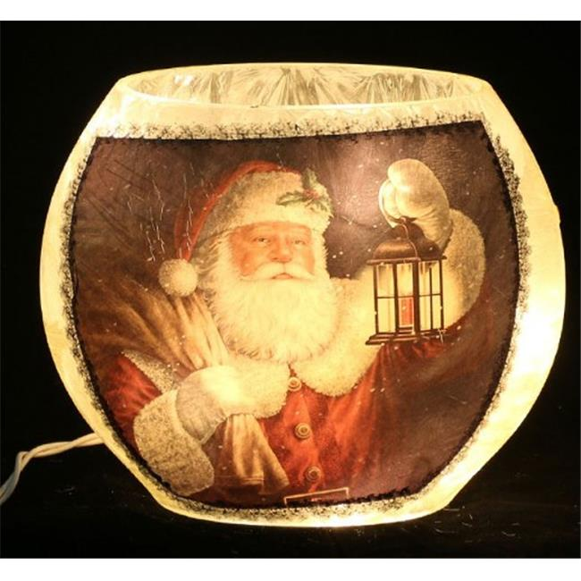 DecorFreak Santa Oval Glass Jar - - Santa & Lamp