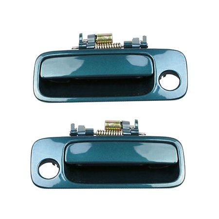 Brand NEW For 1997-2001 Toyota Camry Green Pearl 6P2 Front Left and Front Right Exterior Outer Door Handle 2PCS 97 98 99 00 (01 Toyota Camry Door Handle)