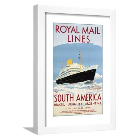 Royal Mail Lines to South America Poster Framed Print Wall Art By (Frames By Mail Coupon)