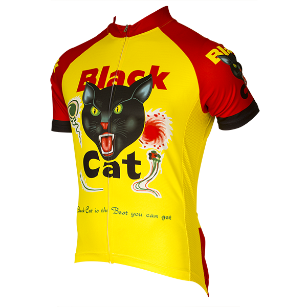 Black Cat Fireworks Men/'s Full Zip Cycling Jersey NEW Free Shipping