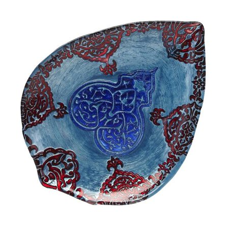 Red Pomegranate 471-6 Casa Blanca 15 in. Turquoise, Lapis & Red Plate - image 1 of 1