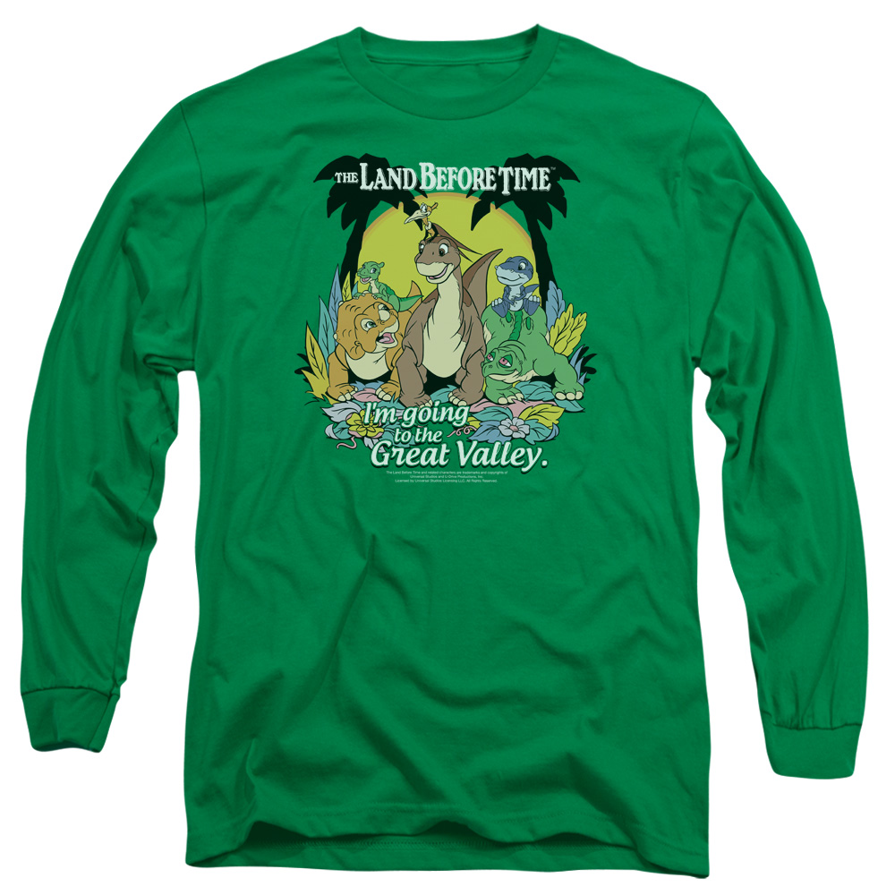 LAND BEFORE TIME/GREAT VALLEY-L/S ADULT 18/1-KELLY GREEN-SM
