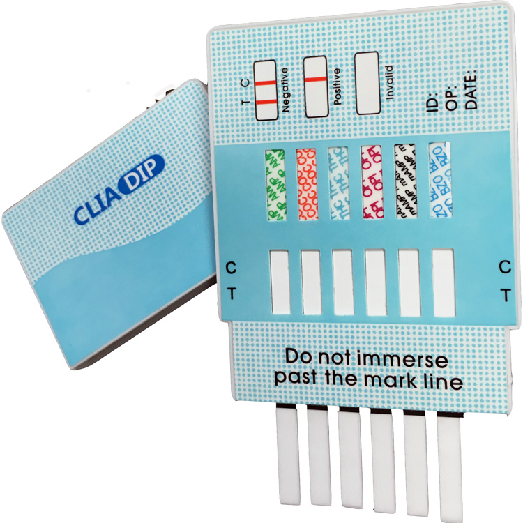 QTEST (25 Pack) 6 Panel Drug Test Dip Cards. Each Dip Tests for 6 Drugs.