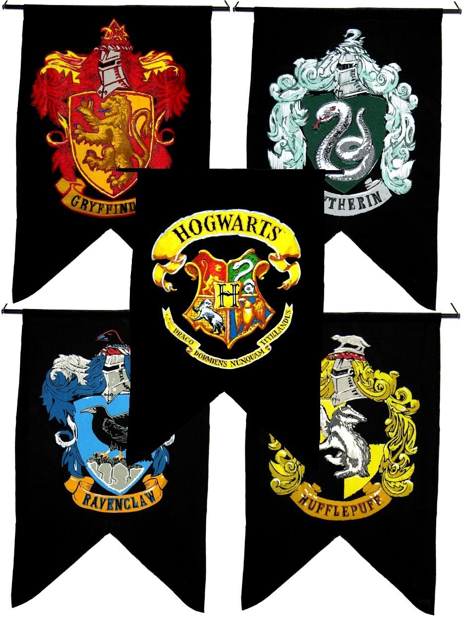 Harry Potter Cord Backpacks Gryffindor Slytherin Hufflepuff Ravenclaw