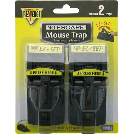 Bonide Products Mouse - Bonide Products-revenge-Revenge Ez Set Mouse Traps- Red 2 Pack