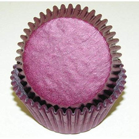 Burgundy Cupcake Wrappers (50pc Solid Burgundy Color Standard Size Cupcake Baking Cups Liners)