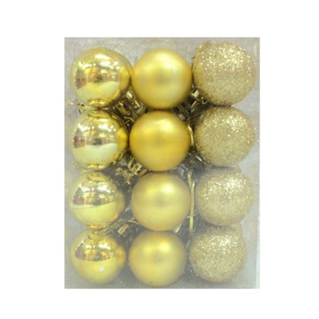 SWEETLIFE 24pcs 3cm Christmas Tree Baubles Balls Home Wedding Decorations Gift (Tacky Christmas Decorations)