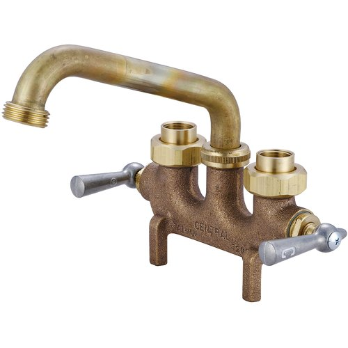 Central Brass Laundry Faucet with 3.5'' Centers and Straddle Legs