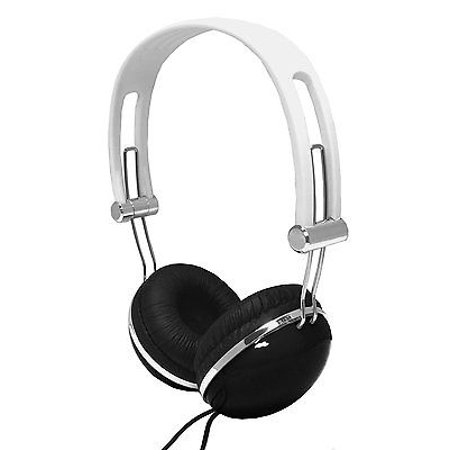 Overhead Stereo Headphone (Super Bass Overhead 3.5mm Audio Stereo Headphones with Microphone - Black/White )