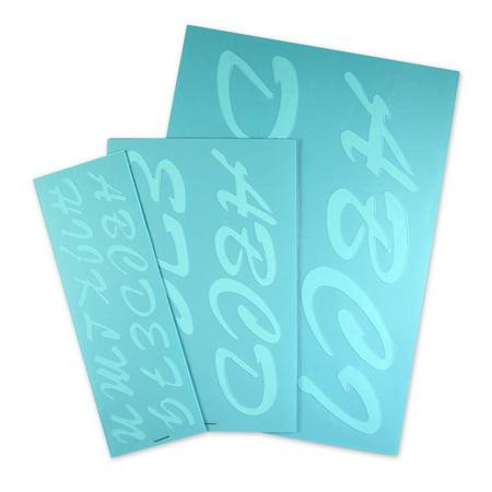 Creative Start Reusable Transparent Plastic Stencil Kit, 1
