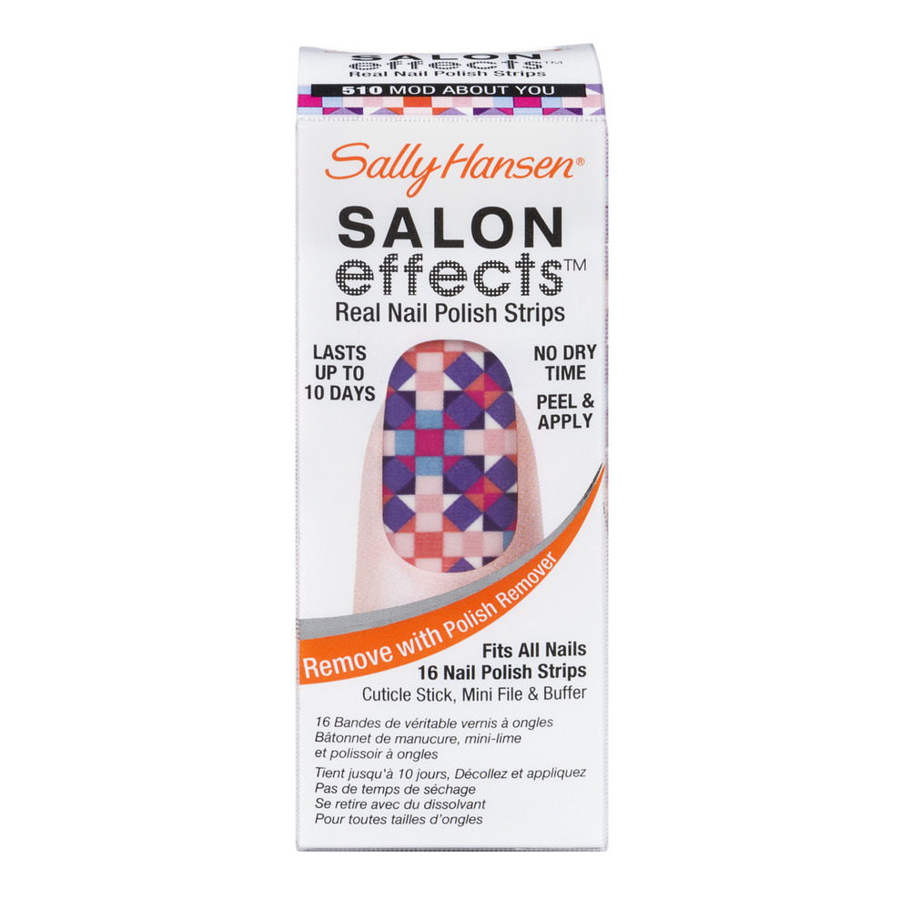 Sally Hansen Salon Effects Real Nail Polish Strips 510 Mod About You - 16 CT