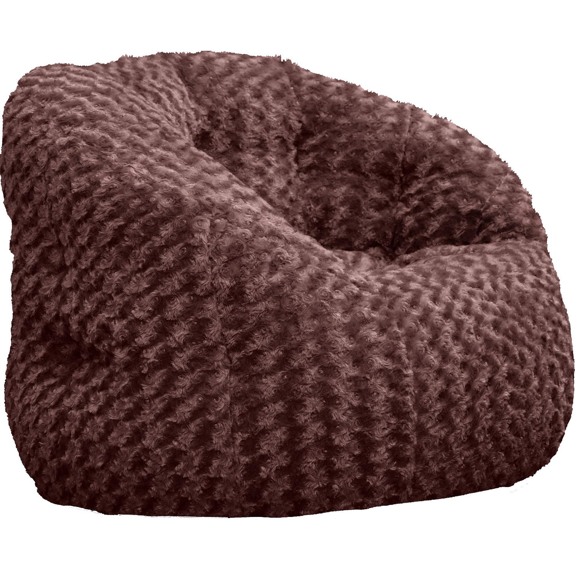 Cocoon Rosette Faux Fur Bean Bag Chair Walmart