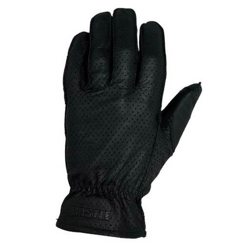 Castle Streetwear Perforated Standard Leather Gloves Black