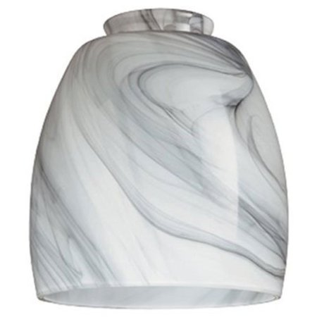 Faux Marble Glass Shades - LIGHTING CORP 8140900 Handblown Pendant Lamp Shade 2-1/4
