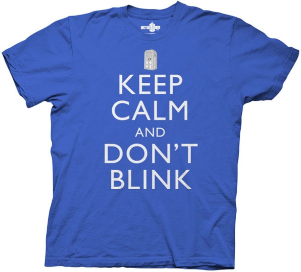 Doctor Who Men's Keep Calm and Don't Blink T-Shirt
