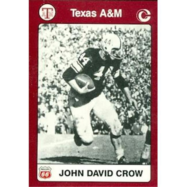 John David Crow Football Card (Texas A&M) 1991 Collegiate Collection No.10