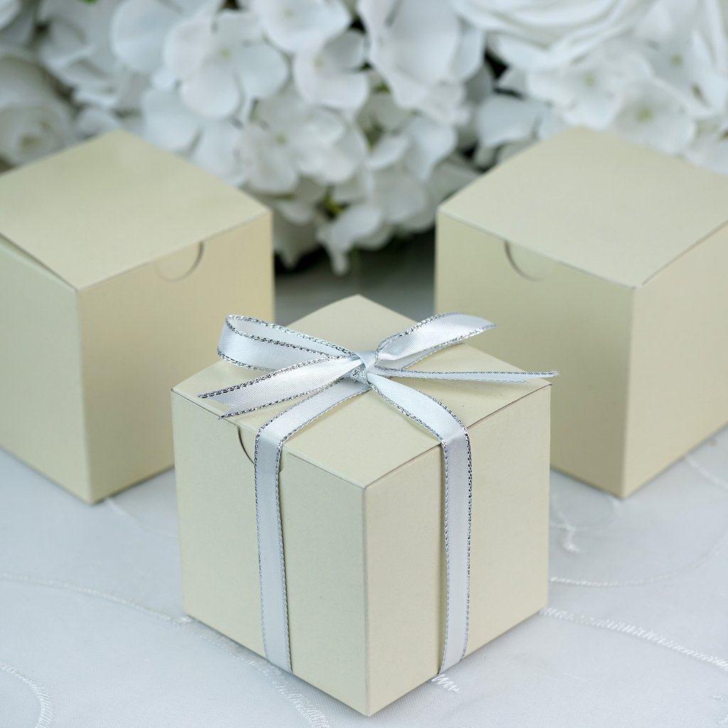 Efavormart Multiple Colors Wedding Banquet Event Party Gift Wrap Boxes 3x3x3 100pc