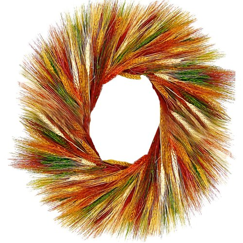 Dried Flowers and Wreaths LLC Sunset Wheat Wreath