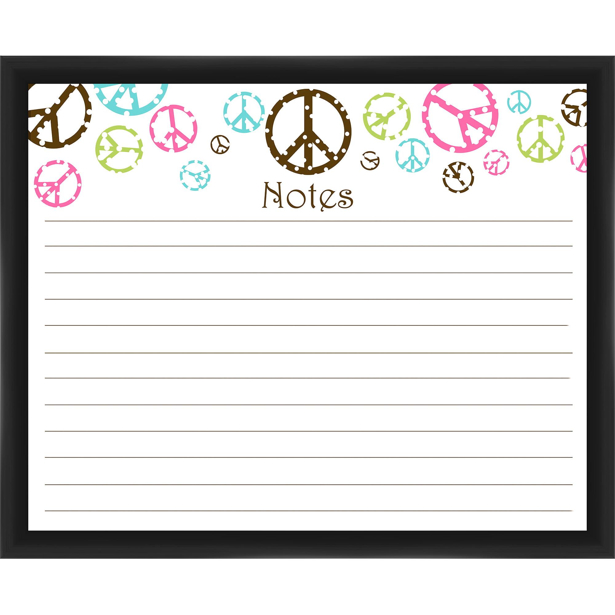 Peace Notes Black Memoboard