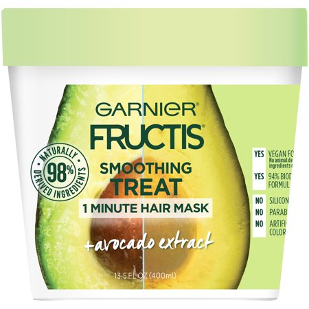 Garnier Fructis 1 Minute Hair Mask with Avocado, 13.5 fl oz
