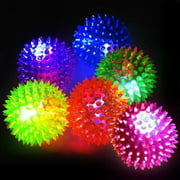(6 Pack) Spiky Squeaker Balls Dog Toy - Extra Large, Cleans Teeth and Promotes Good Dental and Gum Health for Your Pet Jugetes Para Perro