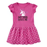 My Yaya Loves Me Unicorn Toddler Dress
