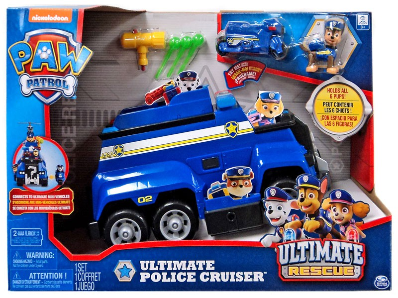Paw Patrol Ultimate Rescue Ultimate Police Cruiser Vehicle & Figure [Lights & Sounds]
