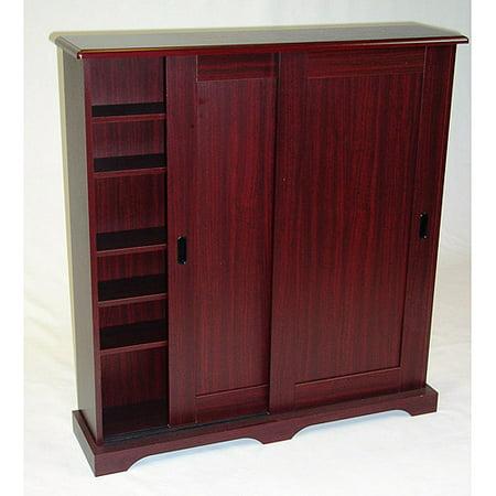 Sliding Door Multimedia Stand, Cherry