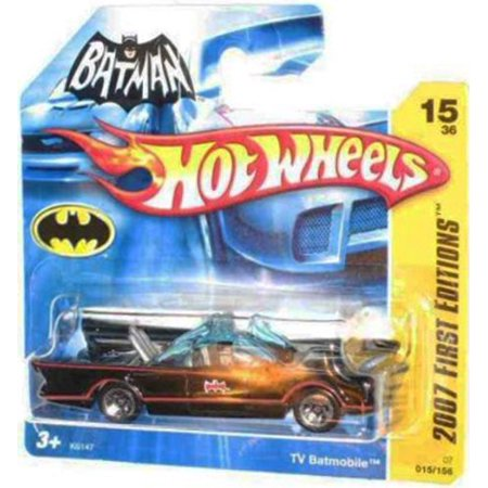 2007 New Models -#15 1966 TV Series Batmobile First Editions Card Short Card Honeycomb Grill #2007-15 Collectible Collector Car Mattel Hot Wheels 1:64