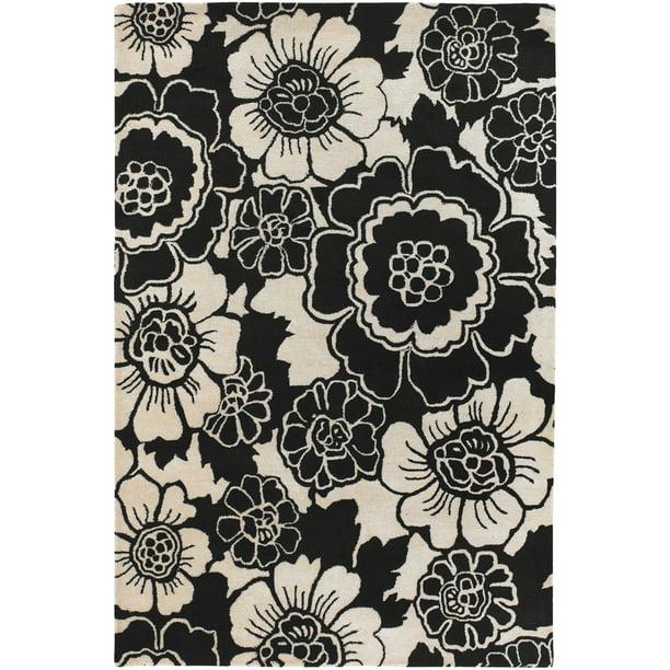 Chandra Faro FAR 6202 Black White 5 x 76 Rug Walmart