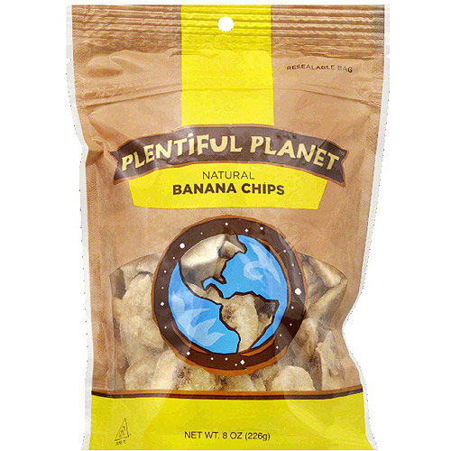 Plentiful Planet Natural Banana Chips, 8 oz, (Pack of 6)