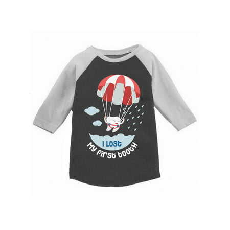Awkward Styles I Lost My First Tooth Raglan for Toddler Cute Lost Tooth Baseball Shirt First Tooth Party Funny First Tooth Jersey T shirts for Boys and Girls Tooth Fairy