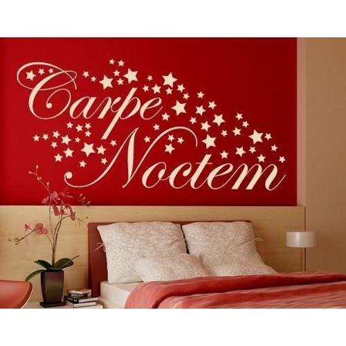 Carpe Noctem-stars Wall Decal 20in x 9in Yellow