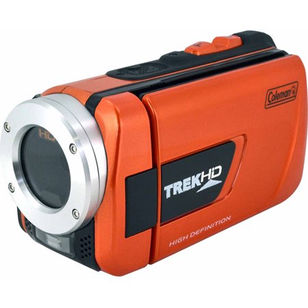 Coleman TrekHD CVW16HD Orange Waterproof Camcorder with 8x Digital Zoom and 3