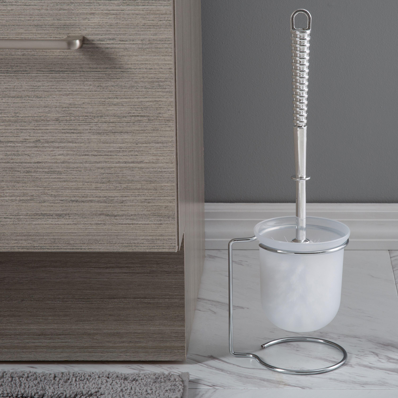 Toilet Bowl Brush, Clear/Chrome