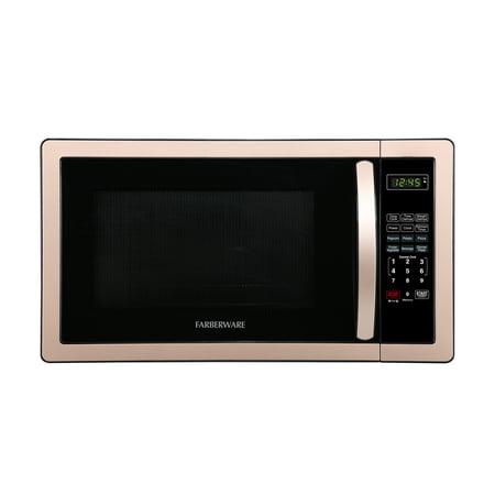 Farberware Classic 1.1 Cubic Foot 1000 Watt Microwave Oven, Copper (Farberware Microwave)