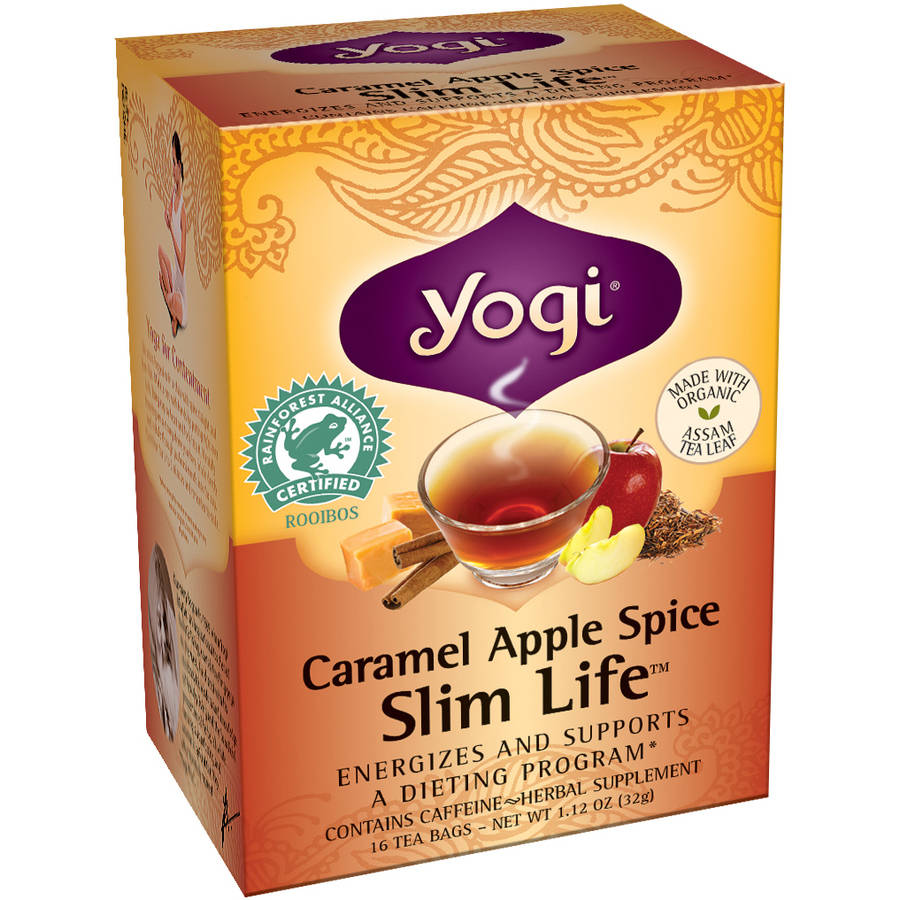 Yogi Caramel Apple Spice Snack Tea Bags, 16 count