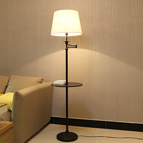Zimtown Swing Arm Floor Lamp, Floor Table Light With Metal Trays,  Contemporary Floor Lamp