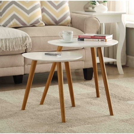 Art Deco Nesting Tables - Convenience Concepts No Tools Oslo Nesting End Tables