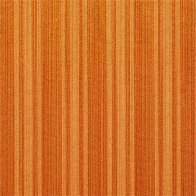Designer Fabrics K0101F 54 in. Wide Orange Two Toned Stripe Metallic Sheen Upholstery Fabric
