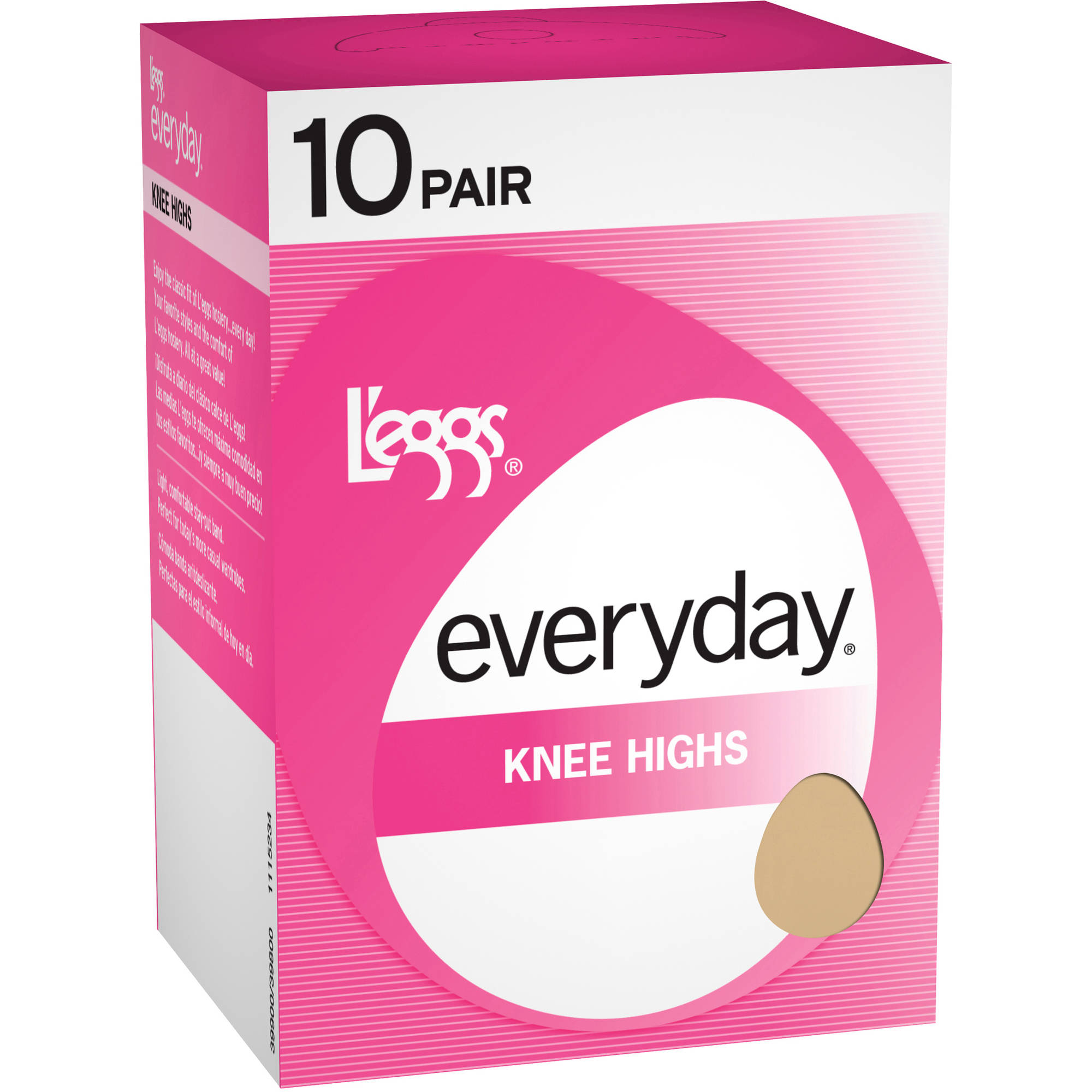 L'eggs - Women's Everyday Knee High Hosiery, 10-Pack