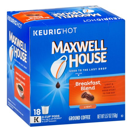 Maxwell House Breakfast Blend Coffee K-Cup ® Packs 18 ct Box