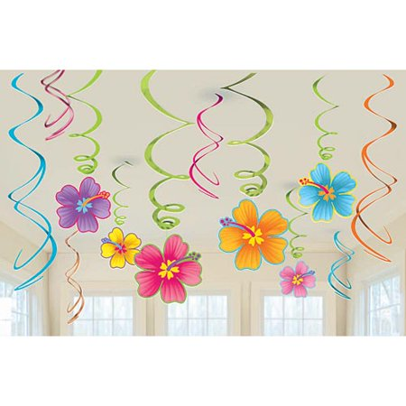 Luau Value Pack Foil Swirl - Luau Decorations Cheap