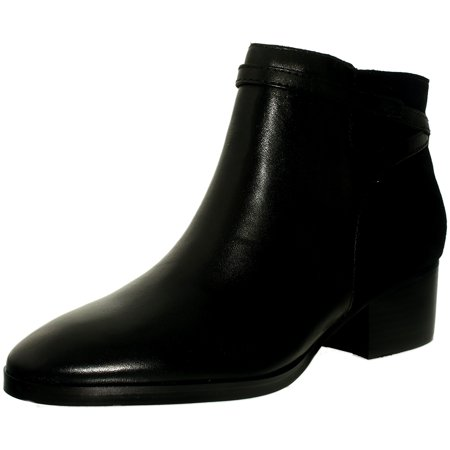 Lauren Ralph Lauren Womens Damara Bo Csl Leather Suede Black Black Ankle High Leather Boot   7 5M