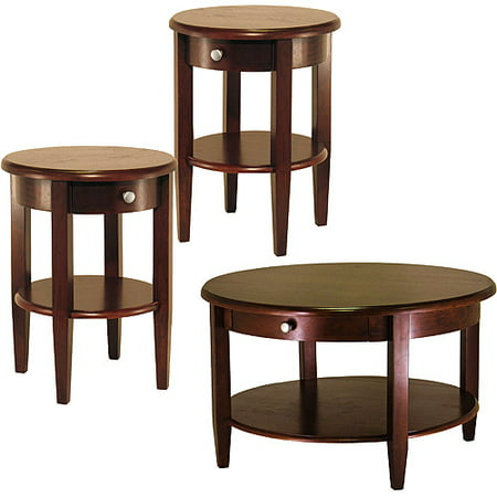 Concord 3 Piece Coffee Amp End Tables Value Bundle Walnut