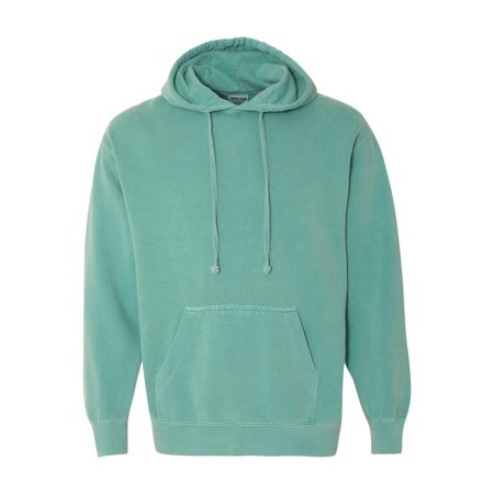 Denim Fleece Pullover - Comfort Colors Fleece Garment Dyed Hooded Pullover Sweatshirt 1567