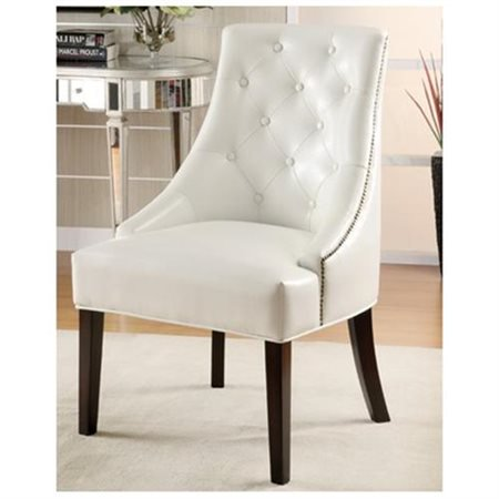 Coaster Bonded Leather Accent Chair White